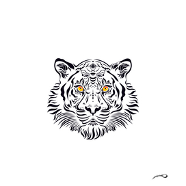 White tiger in danger by #Bizzartino