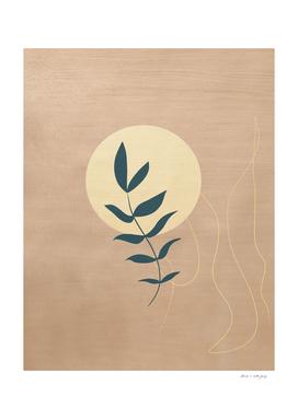 Desert Leaf #1 #minimal #wall #art
