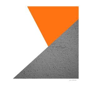 Cement vs orange diagonal