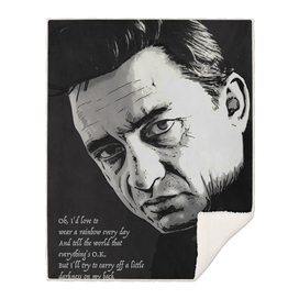 THE MAN IN BLACK, JOHNNY CASH