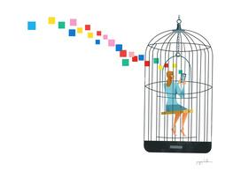 social media cage