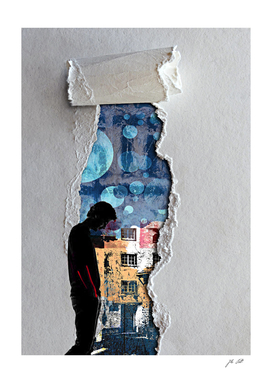 Walk through the torn paper