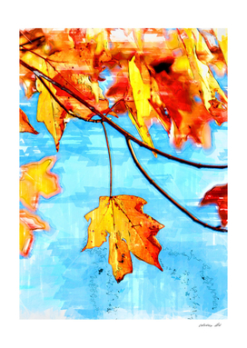 Autumn Leaves Classic Marker Sketch.