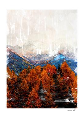 Zillertal Alps Autumn Mood Marker Sketch