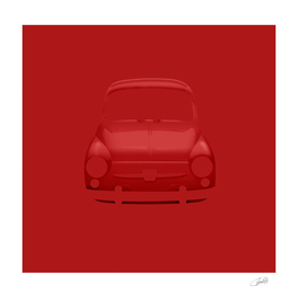 Fiat 600 red