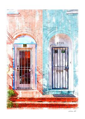 Twin Townhouse Doors Vintage In Washington