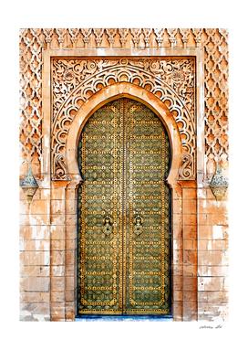 Vintage Arabian Door Hassan Tower Morocco