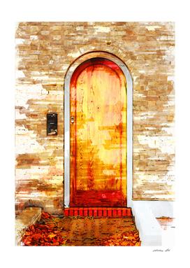 Vintage Door In Hyde Park London