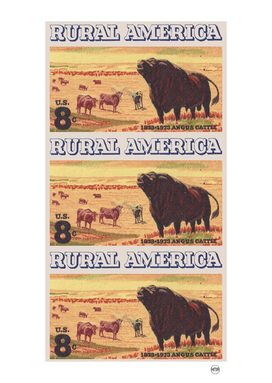 Rural America vintage US post stamp