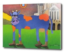 Udderly Frank - Frankenstein Cow Art