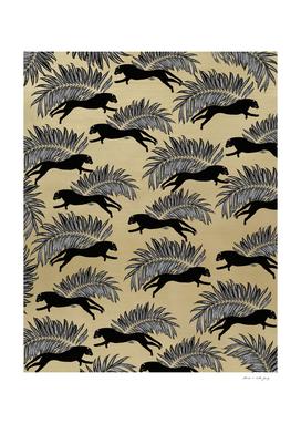 Black Panther Palm Glitter Glam #1 #tropical #decor #art