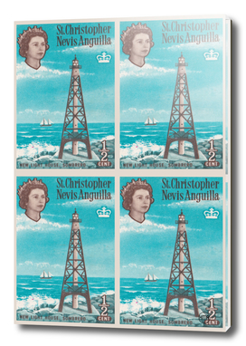 Sombrero light house, Nevis Anguilla british post stamp