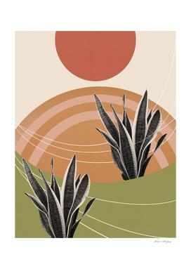 Snake Plant in the Desert #1 #tropical #wall #art