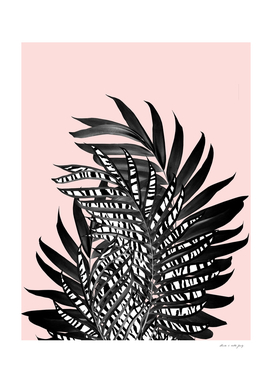 Palm Leaves with Tiger Stripe Glam #2 #tropical #decor #art
