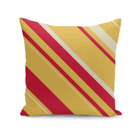 Diagonal stripes yellow and red
