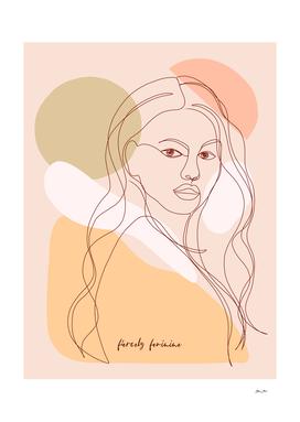 LineArt Woman Portrait - Fiercely Feminine