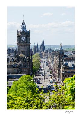 Princes St From Calton Hill Edinburgh Scotland