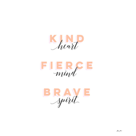 Girl Power - Kind, Brave and Fierce