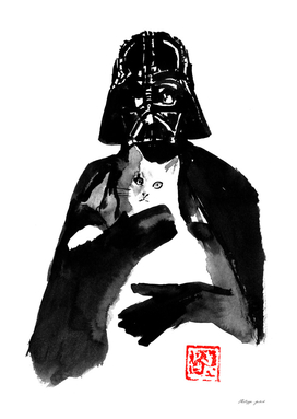 dark vador et son chat