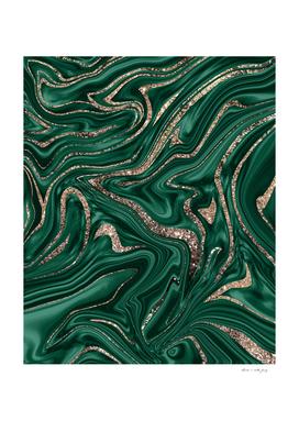 Emerald Green Black Gold Glitter Marble #1 #decor #art