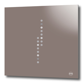 Brown vertical dots