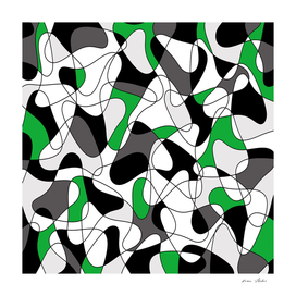 Abstract pattern - green, black and white.