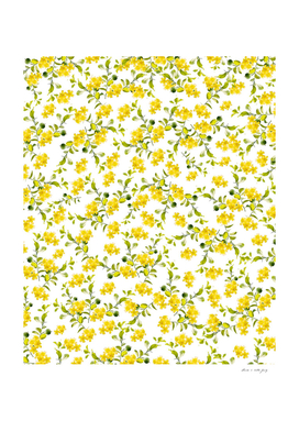 Yellow Flower Pattern #1 #spring #floral #decor #art