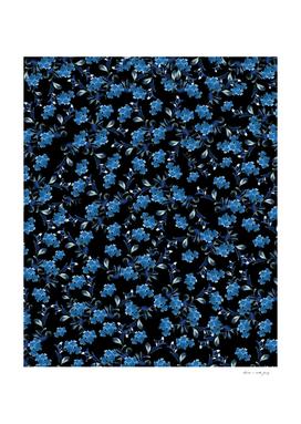 Blue Flower Pattern #1 #spring #floral #decor #art