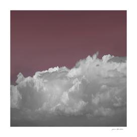 NEPHELAI SERIES Cloudscape on dark rose sky
