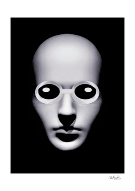 Alien With Glasses Head Scary Poster 2