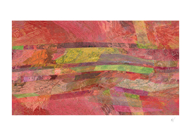 Plateau Abstract in Coral Pink