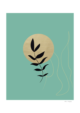Desert Leaf #3 #minimal #wall #art