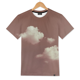 NEPHELAI SERIES Two clouds on dusty pink