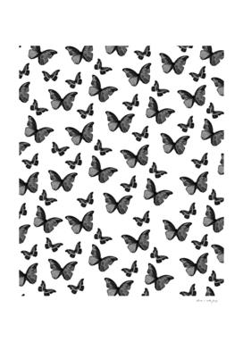 Black & White Butterfly Glam #1 #pattern #decor #art