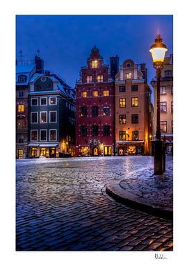 Old Town Winter Night II