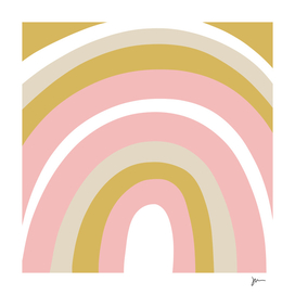 Splendid Rainbow in Light Mustard Gold and Blush Pink