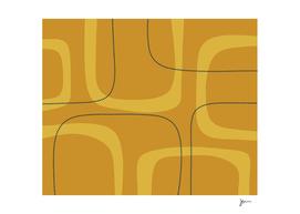Mid Century Modern Loops in Mustard Tones