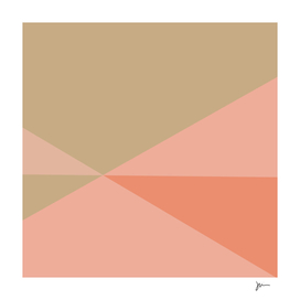 Convergence - Minimalist Abstract in Blush and Light Khaki