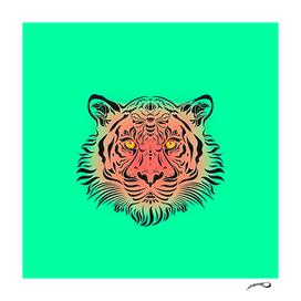 Watermelon Tiger by #Bizzartino