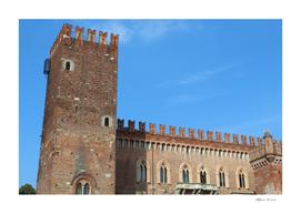 Medieval castle in spring
