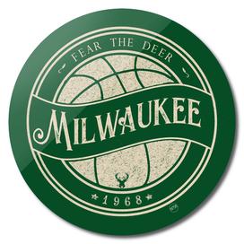 Milwaukee basketball green vintage logo