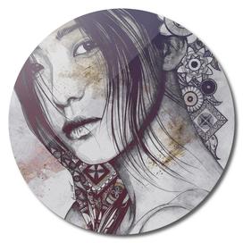 Stoic: Violet | asian woman portrait with mandalas
