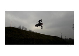 Motocross race - jumps, fun and risk