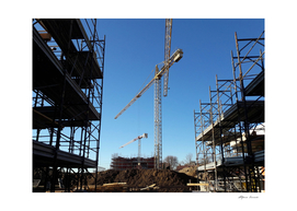 Construction site - crane and scaffolding