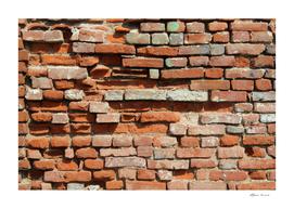 Vintage brick wall
