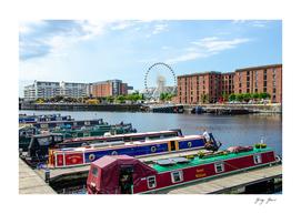 Narrowboats at Albert Dock Liverpool