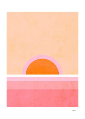 Peachy Sunrise #positiveart #abstractart