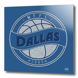 Dallas MFFL basketball royal blue vintage logo