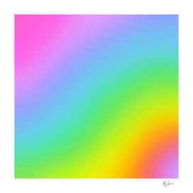 Diagonal Bright Rainbow Ombre