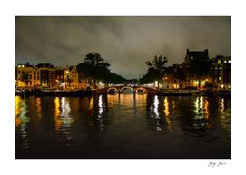 River Amstel In Amsterdam